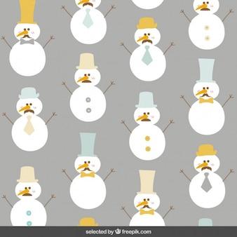 Snowman w tle