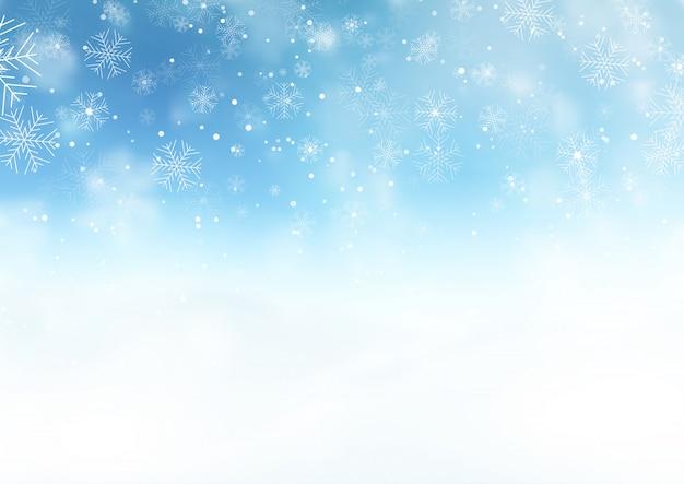 Snowy boże narodzenie krajobraz