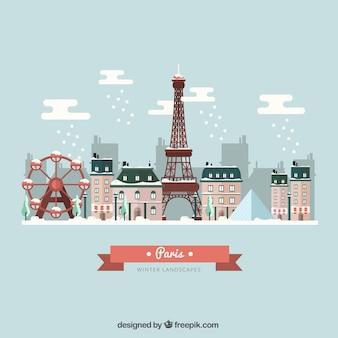Snowy paryż
