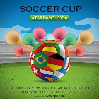 Soccer cup tle plakatu