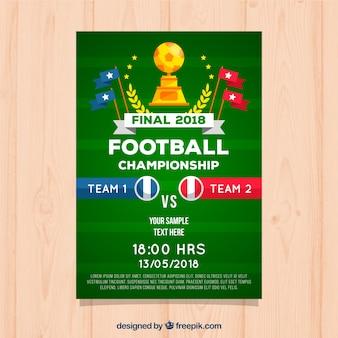 Soccer league flyer z trofeum