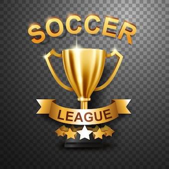 Soccer league trophy