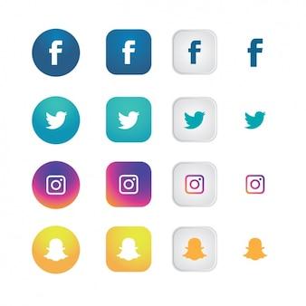 Social kolekcji ikony sieci