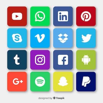 Social logo logo collectio