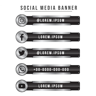 Social media banner collection steel version