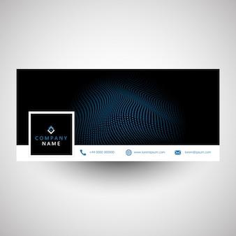 Social media cover z nowoczesnym designem kropek