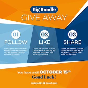 Social media giveaway conept