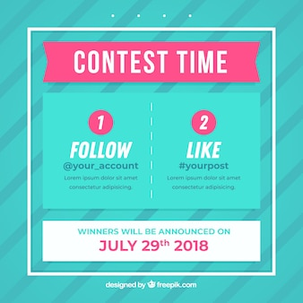 Social media giveaway conept