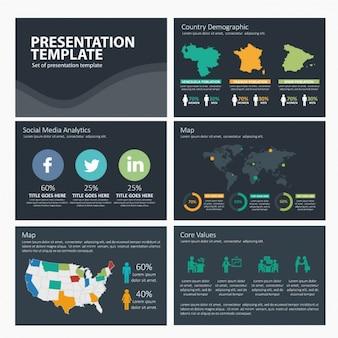 Social media infografika szablon