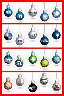 Social media kulki Boże Narodzenie