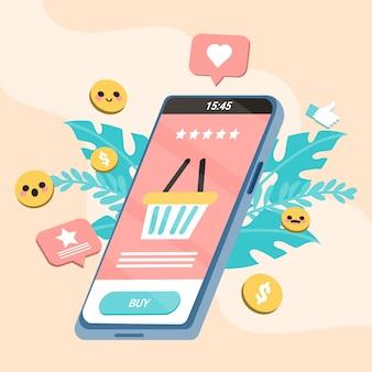 Social media marketing koncepcja telefonu komórkowego