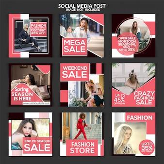 Social media post na sprzedaż z rabatem