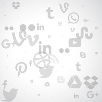 Social media w tle