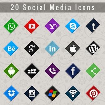 Social media zestaw ikon