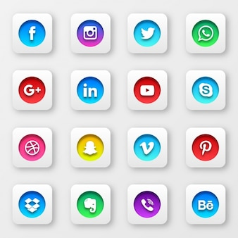 Social przyciski kolekcji sieci