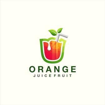 Sok pomarańczowy logo gradientu