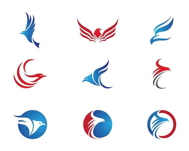 Sokół eagle ptak logo szablon wektor ikona