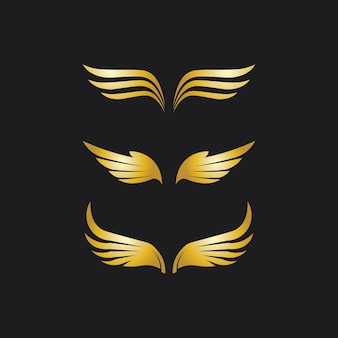Sokół, orzeł logo i skrzydła szablon wektor ilustracja projekt ikona