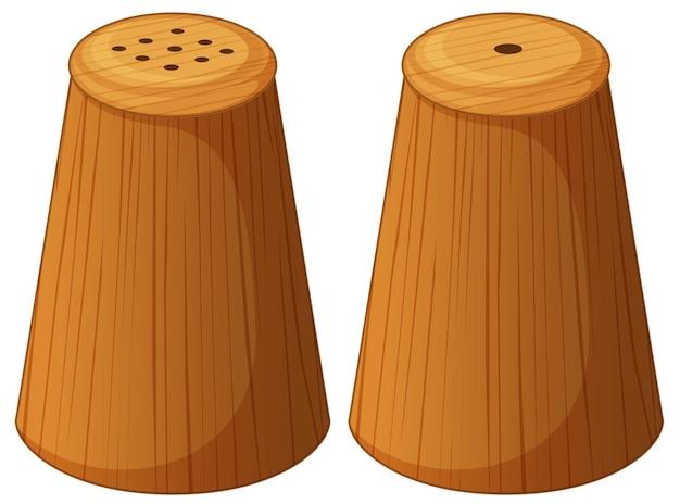 Solniczka i pieprzniczka z drewna