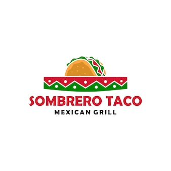 Sombrero kapeluszowego taco loga ikony wektorowa ilustracja