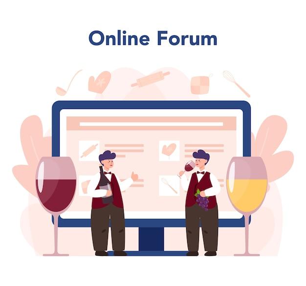 Sommelierska usługa lub platforma internetowa
