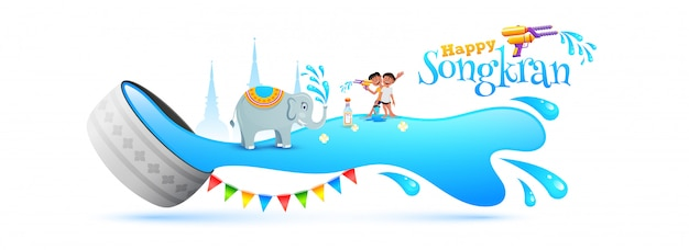 Songkran festival concept.