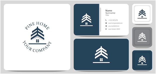 Sosna dom projekt logo dom drzewo leśne