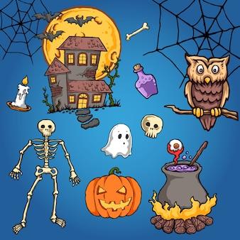 Sowa halloweenowa wektorowa ilustracja