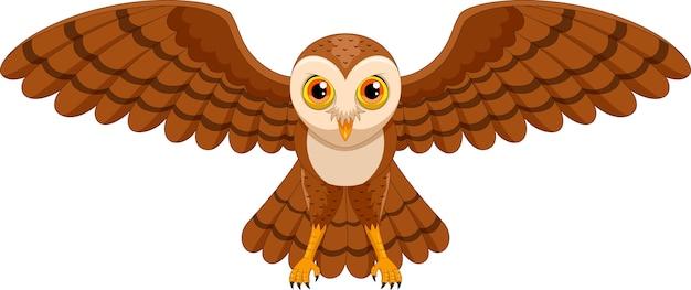 Sowa kreskówka latający