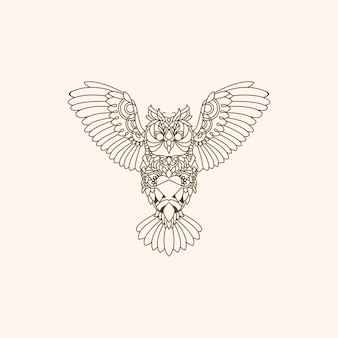Sowa logo monoline