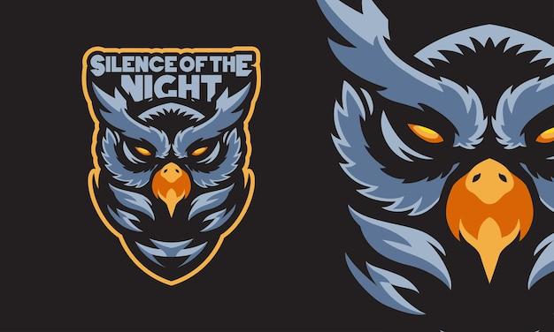 Sowa sport logo maskotka ilustracja wektorowa