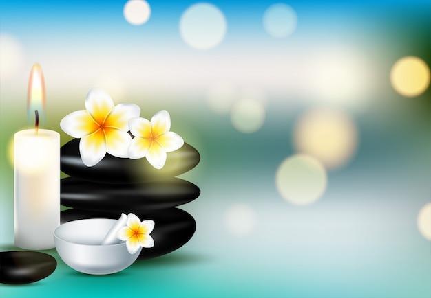 Spa koncepcji tła, opieki zdrowotnej i piękna