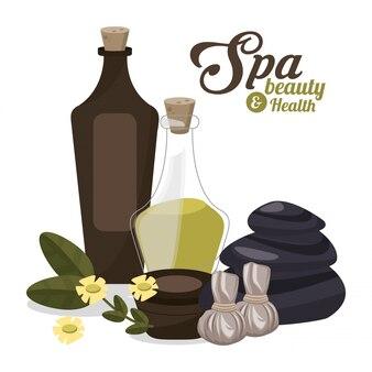 Spa piękno i zdrowie kremy olejne z kwiatów plakat