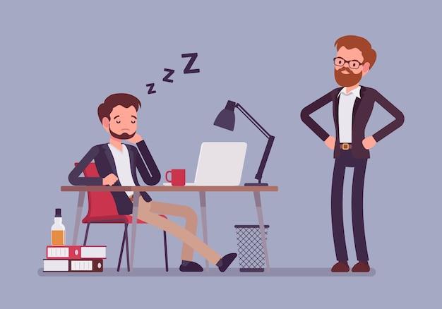 Spać w pracy biurowej