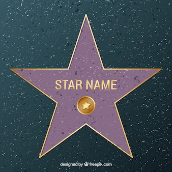 Spacer sławy gwiazda tło