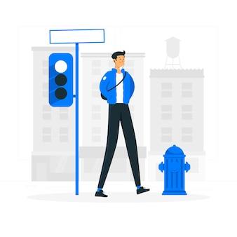 Spacer w mieście ilustracja koncepcja