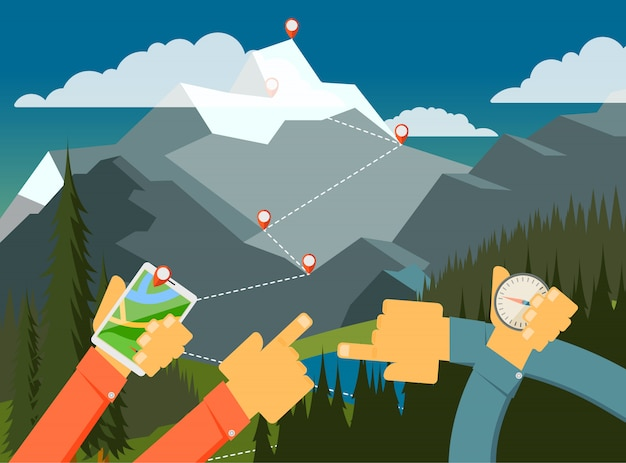 Spacery na świeżym powietrzu, camping, sposób patrzenia.