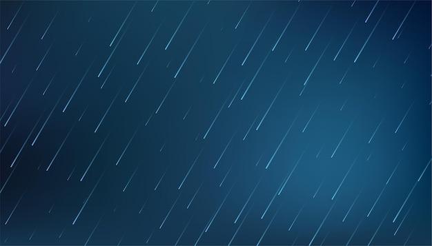 Spadająca woda spada w tle deszczu