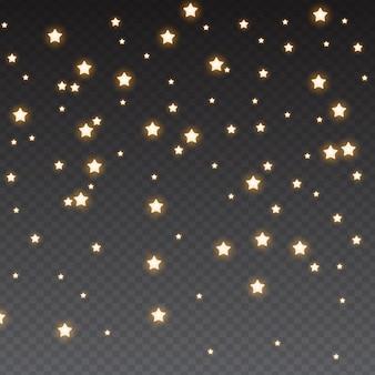 Spadające błyszczące gwiazdy