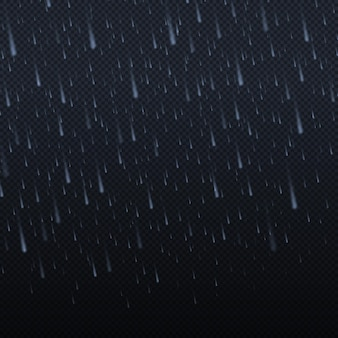 Spadające krople wody tekstura deszczu natura opady deszczu streszczenie tekstury spadającej wody