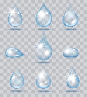 Spadające krople wody