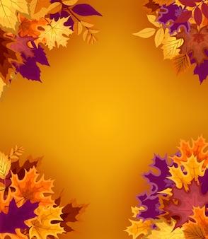 Spadające liście jesienią