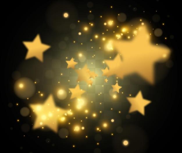 Spadające złote gwiazdy