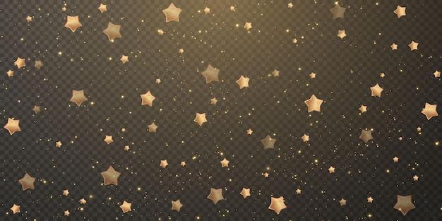 Spadające złote gwiazdy.