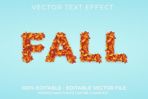 Spadek 3d edytowalny efekt tekstowy