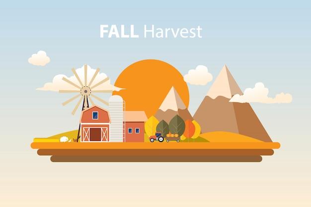 Spadek zbiorów rolnictwa ilustracja
