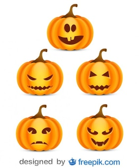 Spakować się przestraszyć halloween dynie 3 małe
