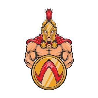 Spartan halbody grafika ilustracja logo