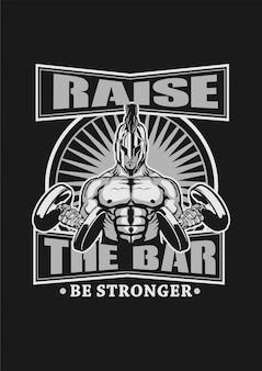 Spartan podnosi bar