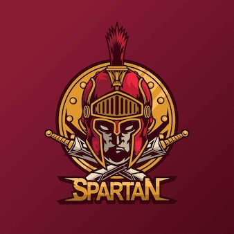 Spartańska maskotka do projektowania logo esport